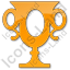 Trophy Plain Orange Icon