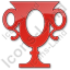 Trophy Plain Red Icon