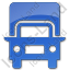 Truck Plain Blue Icon, PNG/ICO, 64x64