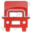 Truck Plain Red Icon, PNG/ICO, 64x64