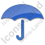 Umbrella Plain Blue Icon