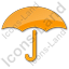 Umbrella Plain Orange Icon