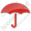 Umbrella Plain Red Icon, PNG/ICO, 64x64
