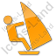 Windsurfing Plain Orange Icon