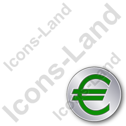 Overlay Currency Euro Plain Green Icon