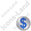 Overlay Currency Dollar Plain Blue Icon
