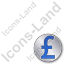Overlay Currency Pound Plain Blue Icon, PNG/ICO, 64x64