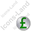 Overlay Currency Pound Plain Green Icon