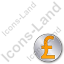 Overlay Currency Pound Plain Orange Icon