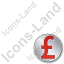 Overlay Currency Pound Plain Red Icon