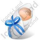 Newborn Male Light Icon, PNG/ICO, 128x128