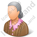 Retiree Female Light Icon, PNG/ICO, 128x128