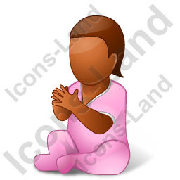 Baby Female Dark Icon, PNG/ICO, 256x256