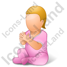 Baby Female Light Icon