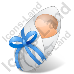 Newborn Male Light Icon, PNG/ICO, 256x256
