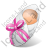 Newborn Female Light Icon