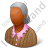 Retiree Female Dark Icon