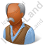 Retiree Male Dark Icon