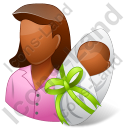 Group2 Mother Newborn Dark Icon, PNG/ICO, 128x128