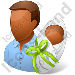 Group2 Father Newborn Dark Icon