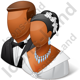 Group2 Married Couple Dark Icon, PNG/ICO, 256x256