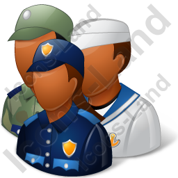 Group3 Military Personnel Dark Icon, PNG/ICO, 256x256