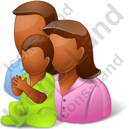 Group3 Parents Baby Dark Icon, PNG/ICO, 256x256