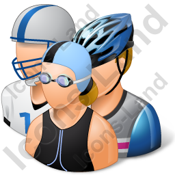 Group3 Sportspersons Light Icon, PNG/ICO, 256x256