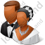 Group2 Married Couple Dark Icon, PNG/ICO, 64x64