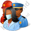 Group3 Rescuers Dark Icon, PNG/ICO, 64x64