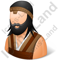 Barbarian Male Icon, PNG/ICO, 256x256