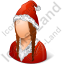 Santa Claus Female Icon