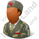 Army Nurse Male Dark Icon