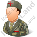 Army Nurse Male Light Icon, PNG/ICO, 128x128