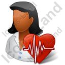 Cardiologist Female Dark Icon