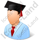 Medical Student Male Light Icon