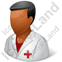 Nurse Male Dark Icon