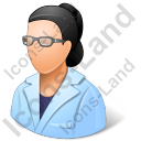Ophthalmologist Female Light Icon