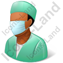 Surgeon Male Dark Icon