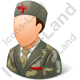 Army Nurse Male Light Icon, PNG/ICO, 256x256