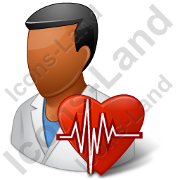 Cardiologist Male Dark Icon