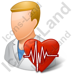 Cardiologist Male Light Icon