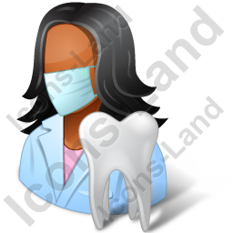Dentist Female Dark Icon
