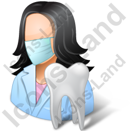 Dentist Female Light Icon, PNG/ICO, 256x256