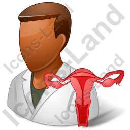 Gynaecologist Male Dark Icon
