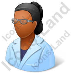Ophthalmologist Female Dark Icon