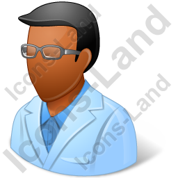 Ophthalmologist Male Dark Icon, PNG/ICO, 256x256