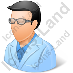 Ophthalmologist Male Light Icon