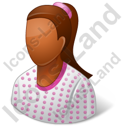 Patient Female Dark Icon, PNG/ICO, 256x256