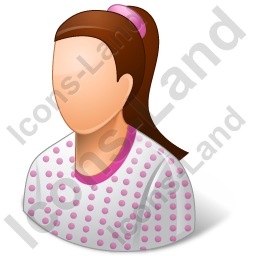 Patient Female Light Icon